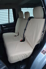 Land Rover Discovery 3 & 4 Tailored & Waterproof Beige Rear Seat Covers  UK Made