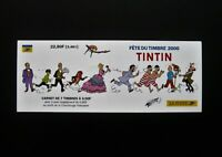 "RARE TINTIN BLOCK SHEET OF 7 STAMPS  ""FÊTE DU TIMBRE"" 2000 LA POSTE, FRANCE"