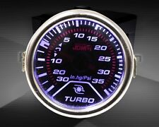 "2"" TURBO CHARGER BOOST METER GAUGE SMOKE TINT SCREEN LED DISPLAY -25 / +35 PSI"
