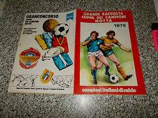 ALBUM CALCIATORI COPPA DEI CAMPIONI MOTTA EDIS 1975 VUOTO+1 FIGURINA MOLTO BUONO