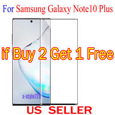 1x Full Cover Curved Clear Screen Protector Guard For Samsung Galaxy Note10 Plus