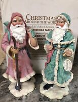New HOUSE OF LLOYD CHRISTMAS AROUND WORLD OLD WORLD SANTA TAPER CANDLE HOLDER