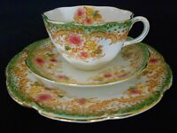 ANTIQUE VINTAGE EDWARDIAN BLAIRS CHINA TEA SET TRIO CIRC 1900-1919
