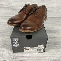 Stacy Adams Dickinson Brown Dress Shoes Boy's size 5M Cognac Oxford