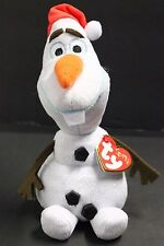 Ty Disney Frozen Olaf the Snowman with Santa hat - 8""