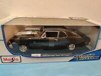 MAISTO 1:18 Scale - 1970 Chevrolet Nova SS Coupe - Black - Diecast Model Car