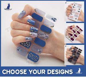 Nail Art Stickers Self-Adhesive DIY Stylish Nail Wraps Full Cover Sticker