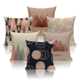 Scandinavian Geometric decorative throw pillow case for couch retro cushion cove