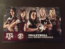 Texas A&M Aggies 2012 NCAA Women's Volleyball pocket schedule
