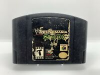 Wrestlemania 2000 Nintendo 64 N64 Game Cart Authentic TESTED! Free Shipping!