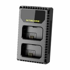 NITECORE Usn1 LCD Display Dual Slot USB Battery Charger for Sony Np-fw50