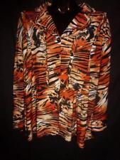 Animal Print Short Sleeve Button Down Shirt Regular Tops & Blouses for Women