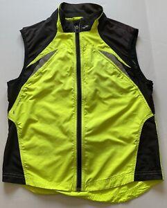 Brooks Running Vest Zip Up Yellow Size Medium Shelter Technology