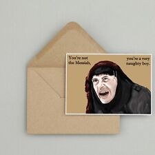 Recycled Hand Made Card Monty Python Inspired Birthday Card Funny/Humour