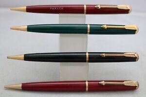 Vintage (c1950) Parker Duofold No. 3 Mechanical Pencils, 4 Designs, UK Seller