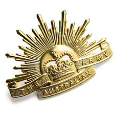 AUSTRALIAN ARMY RISING SUN HAT BADGE - Rising Sun Hat Badge 1991 Edition 7th