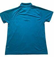LULULEMON Mens Teal Blue Metal Vent Tech Polo 2.0 Short Sleeve Golf Shirt XXL