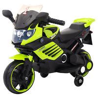Kinder Elektrofahrzeug Elektro Akku Bike Motorrad mit Stützräder LQ158 Grün