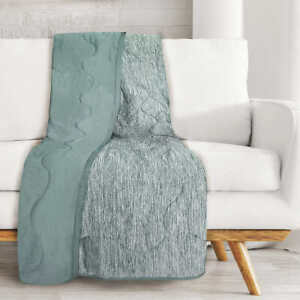Sutton Place, Cooling Reversible Warmth Throw (Choose Color)