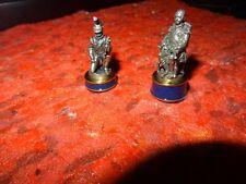 Franklin Mint batalla de Waterloo 2 X piezas de ajedrez-obispo francés y peón-Ltd Ed.