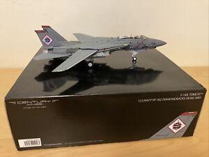 Century Wings F-14B Tomcat US Navy VF-102 Diamondbacks AB102 2001. 1:72 Scale.