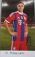 ⭐⭐ Philipp Lahm ⭐⭐ Autogrammkarte ⭐⭐ Spieler FC Bayern ⭐⭐  Weltmeister 2014 ⭐⭐⭐