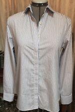 Women's Lands End Striped Cotton Blouse Shirt Size 6