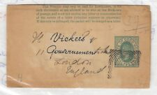 Cape of Good Hope QV Postal History Stationery Wrapper To London X9513