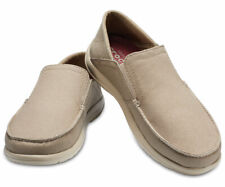 NEW Crocs Santa Cruz Convertible Slip-On Khaki Cobblestone Triple Comfort Shoes