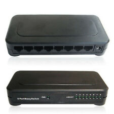 10/100Mbps 8 Ports Ethernet Switch Hub RJ45 LAN Network Adapter +110v-220v Power
