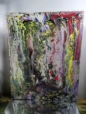 ABSTRACT ORIGINAL CANVAS Authentic HAND PAINTED~ Painting Artist MUSK YAI 16X20~