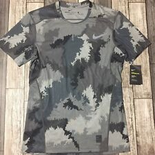 Nike Pro Hypercool Fitted Camo Shirt Short Sleeve Active Wear Men's Size M