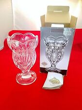 "NIB Shannon Crystal of Ireland 7.25"" Tall Tulip Vase #4377 by Godinger Bohemian"