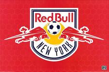 """NEW YORK RED BULL CREST - USA FOOTBAL SOCCER Team - 24""""X36"""" MLS Poster"""