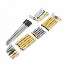 5 x Slimline Pen Turning Kits - Mixed Gold, Silver, Gun metal - Black Ink