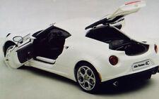 Autoart ALFA ROMEO 4C GLOSS WHITE Composite Model in 1/18 Scale New! In Stock!