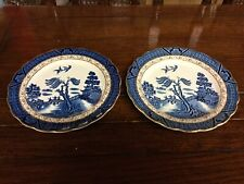 Booths Real Old Willow Two  Side Plates