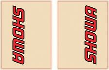 Face Lift Unlimited Red/Black Showa Upper Fork Decals 01012 4320-1435