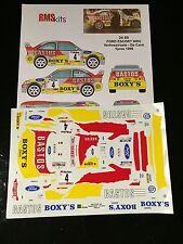 DECALS 1/24 FORD ESCORT WRC VERHOESTRAET RALLYE YPRES 1998 WRC RALLY TAMIYA