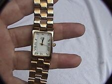 giorgio beverly hills wrist watch with diamond (?) and second hand gold tone 8""