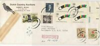 United States 1979 Registered From County Auctions Multi Stamps Cover Ref 23665