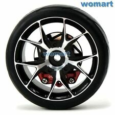 2pc RC 1/10 Alum wheels & Rubber Tires & Brake Disc For 1:10 On Road Touring Car