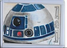 2017 TOPPS STAR WARS 40TH ANNIVERSARY SKETCH SOLLY MOHAMED R2-D2 1/1 SOL
