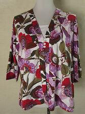 Geblümte klassische 3/4 Arm Damenblusen, - tops & -shirts für die Freizeit