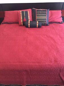 Natori King Duvet Cover Set (Red)