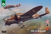 PZL 37 B LOS  (LUFTWAFFE, RUMANISCHE & POLNISCHE MARK.)#72042 1/72 FLY NEUHEIT