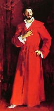 Oil painting John Singer Sargent - Dr Pozzi at Home in red with Bearded canvas