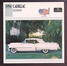 1954 Cadillac Eldorado Super-Convertible 62 Car Photo Spec Sheet Info Stat CARD