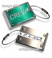 CREW LUGGAGE TAG (METAL) X1