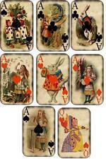 Vintage illustrations Alice in Wonderland playing cards stationery set of 8